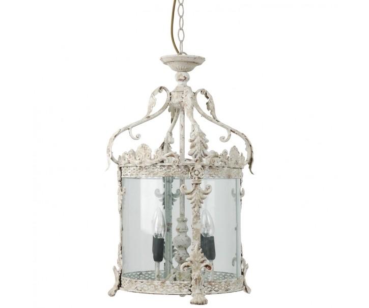 Vinage lustr lucerna s patinou na 4 žárovky - Ø 32*132 cm 4x E14 / Max 25W