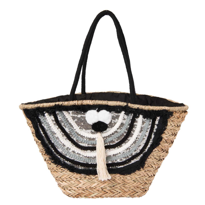 Clayre & Eef Nákupní/plážová taška Aditi - 60*30 cm