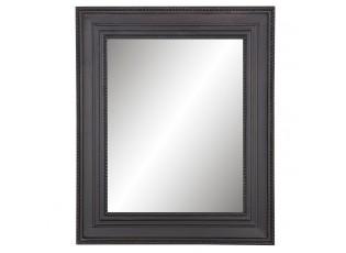 Dřevěné zrcadlo s černým rámem - 55*4*65 cm