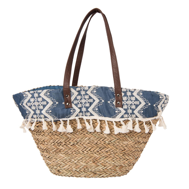 Clayre & Eef Nákupní/plážová taška Achit - 60*30 cm