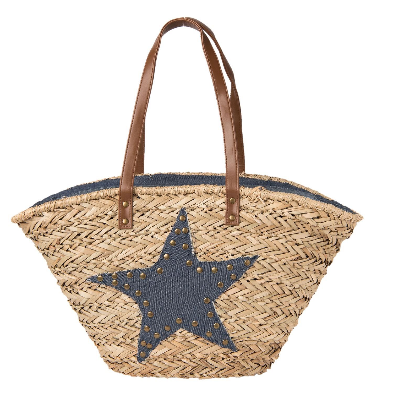 Clayre & Eef Nákupní/plážová taška Adishree -60*30 cm