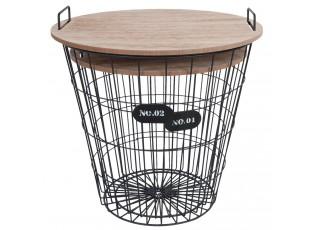 Odkládací stolky 2ks ve tvaru koše - Ø 39*41 cm