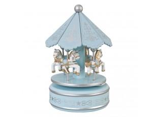 Hrací kolotoč světle modrý - 10*20 cm