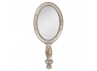 Zrcátko příruční - stříbrná barva-12*3*27 cm