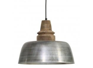 Závěsné světlo MARGO hnědá/stříbrná - Ø40*33 cm