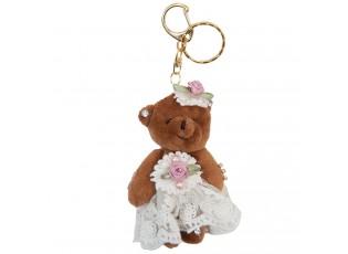 Přívěsek na klíče medvědice v sukni - 4*8 cm