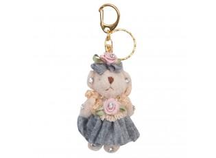 Přívěsek na klíče medvědice v sukni - 4*6 cm