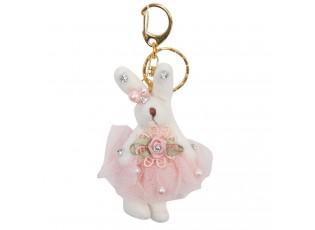 Přívěsek na klíče zaječice v sukni - 4*6 cm