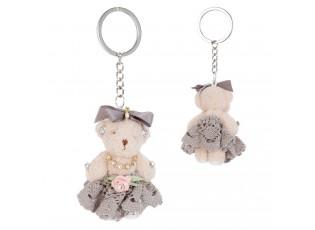 Přívěsek na klíče medvědice v sukni - 5*7 cm
