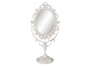 Vintage kosmetické zrcadlo bílé - 21*13*44 cm