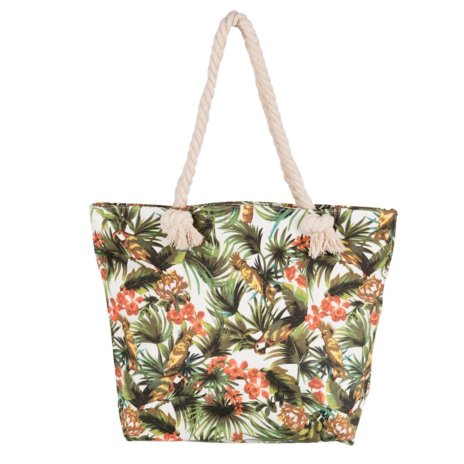 Nákupní/plážová taška Jungle birds - 45*35 cm