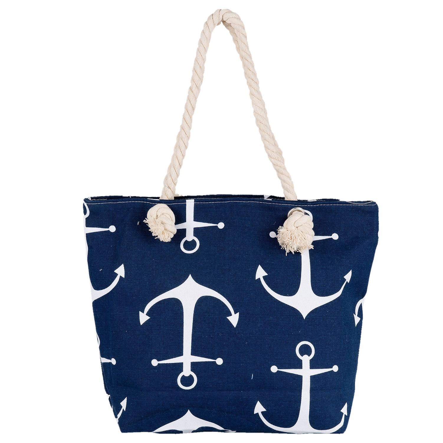 Clayre & Eef Nákupní/plážová taška Nautical - 45*35 cm