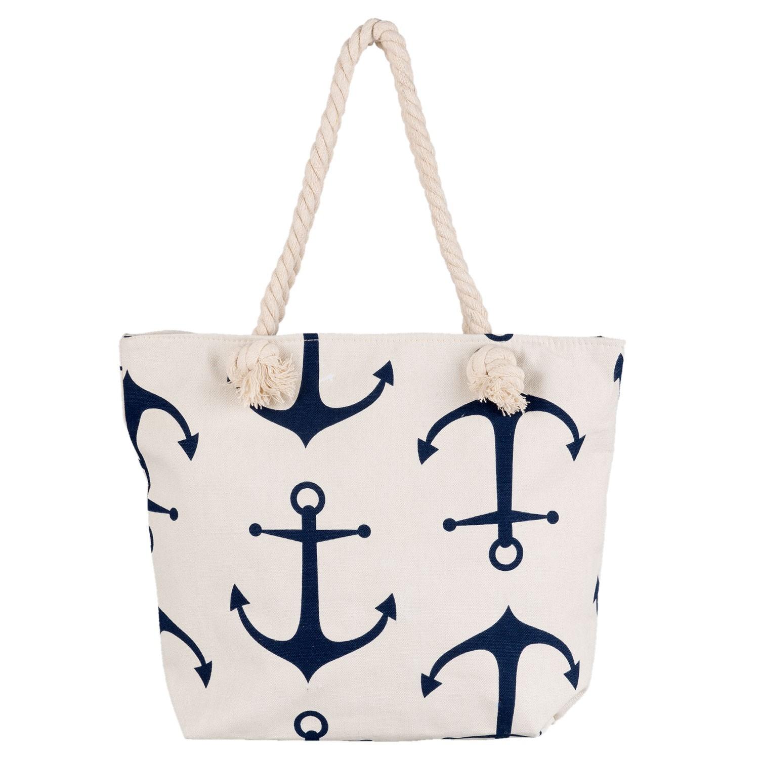 3116dad77b Nákupní plážová taška Nautical - 45 35 cm