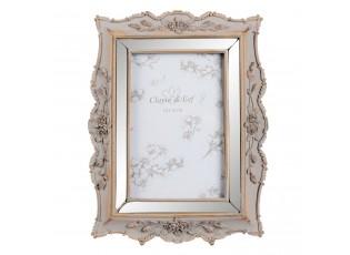 Fotorámeček s patinou a květy růží - 18*2.5*24 / 10*15 cm