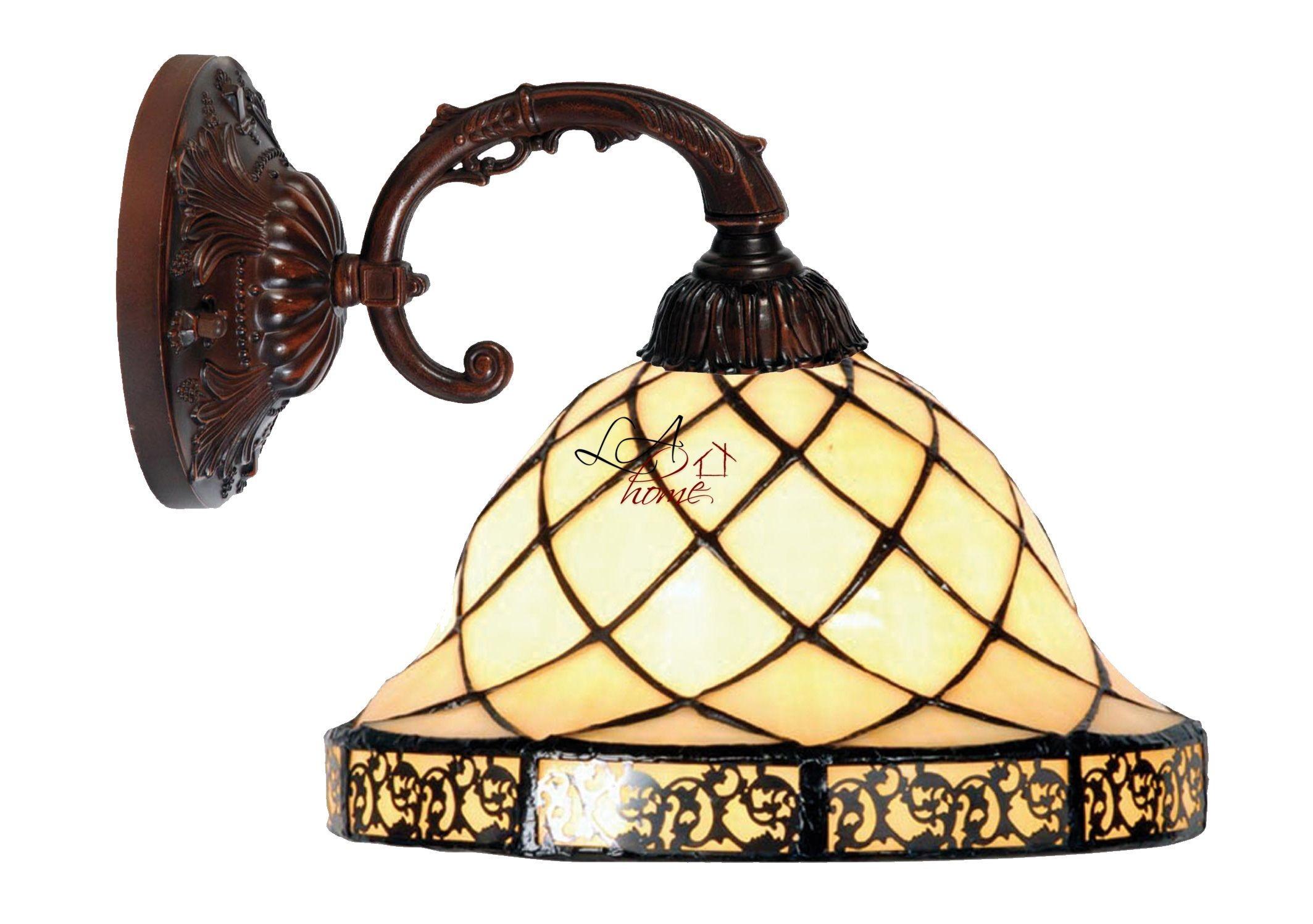 Nástěnná lampa Tiffany Filigree -Ø 26*23 cm