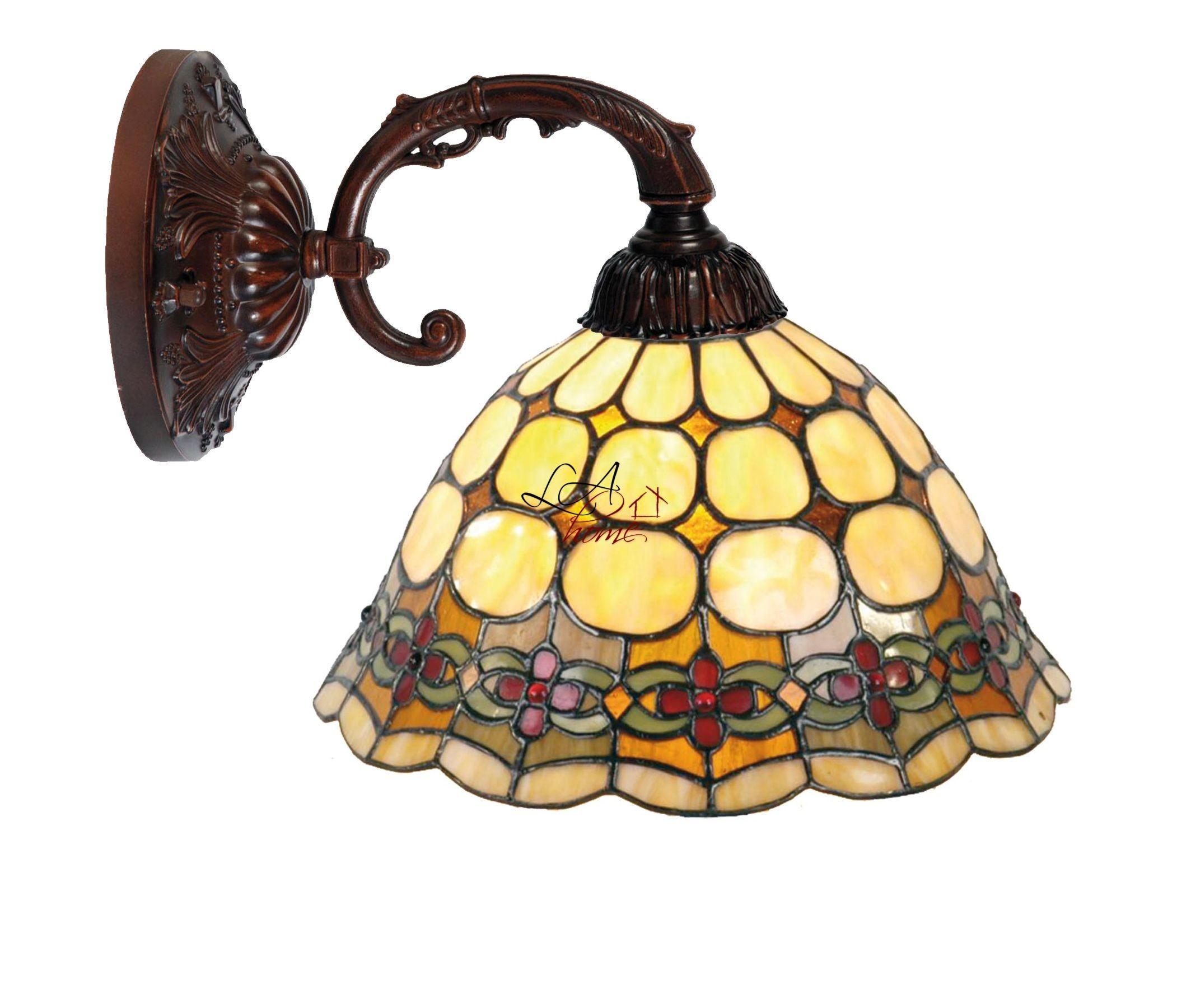 Nástěnná lampa Tiffany Oxford - Ø 25*23 cm