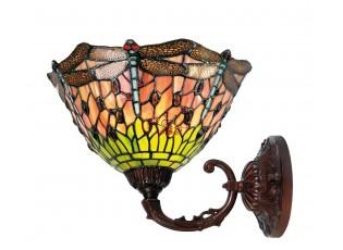 Nástěnná lampa Tiffany Butterfly  -Ø 25*23 cm