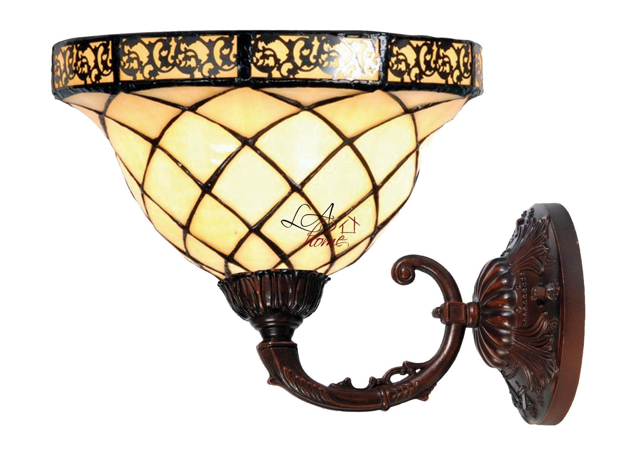Nástěnná lampa Tiffany Filigree -Ø 26*23 cm UP