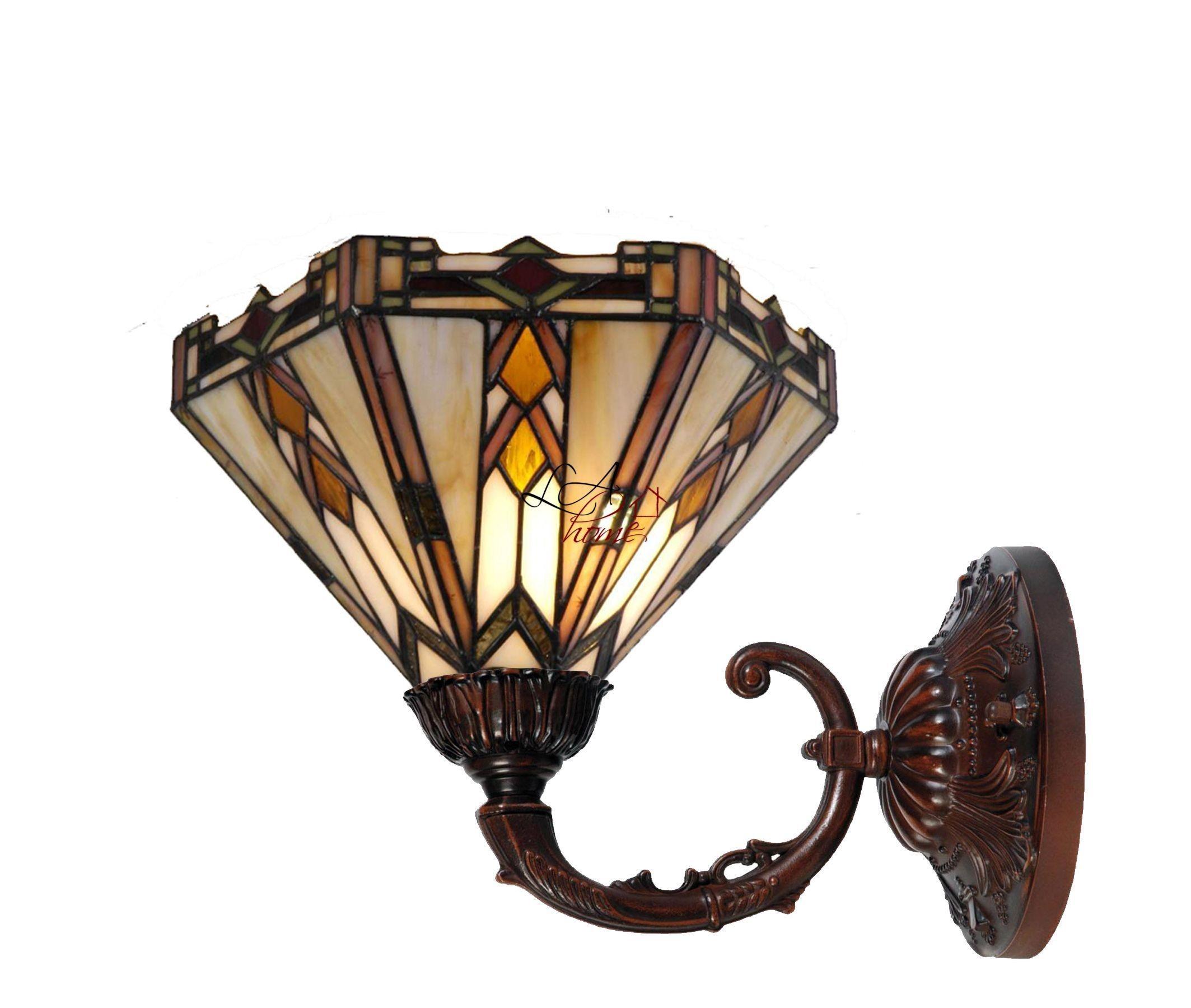 Nástěnná lampa Tiffany - Ø 26*23 cm UP