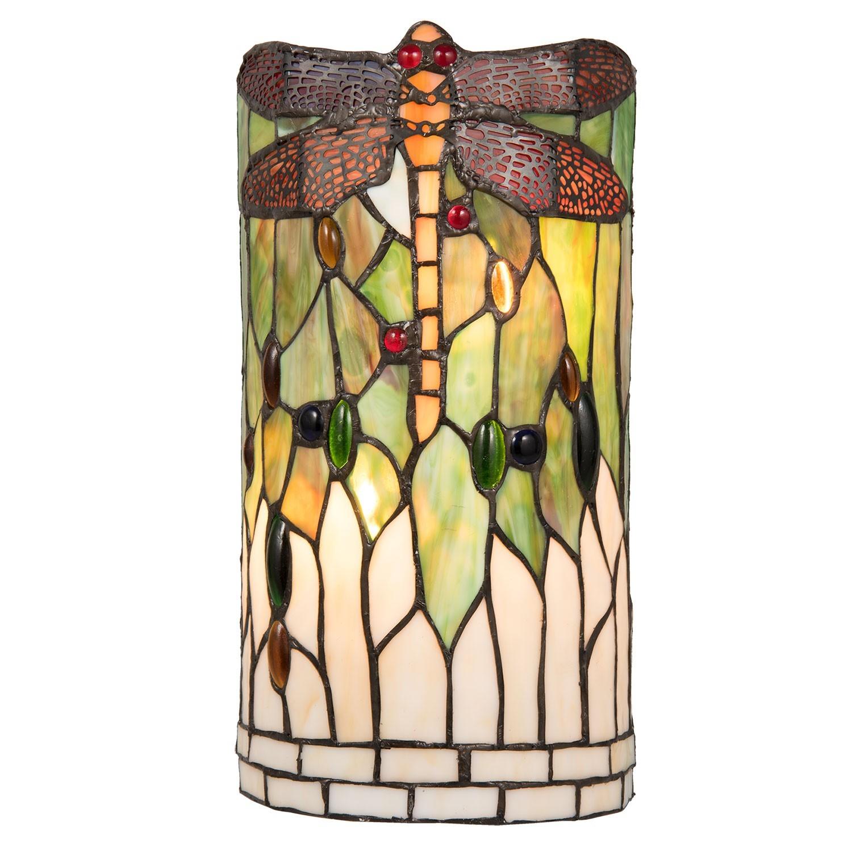 doprava GEIS zdarma Nástěnná lampa Tiffany Dragonfly - 19 11 36 cm 800cd2223a3