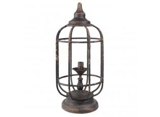 Stolní retro lampa s patinou - Ø 27*44 cm