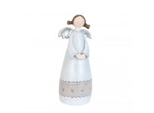Bílý andílek holčička - 7*6*17 cm