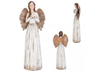 Bílý anděl - 33 cm