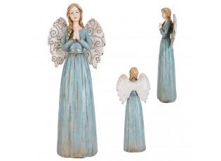 Modrý anděl - 33 cm