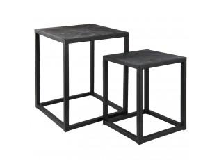 Set odkládacích stolků - 36*36*52 / 31*31*42 cm