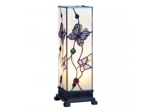 Stolní lampa Tiffany Butterfly Garden - 12.5*35 cm