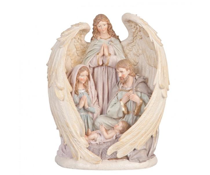 Betlém v andělských křídlech - 25*16*31 cm