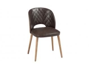 Hnědá čalouněná židle - 50*52*79cm