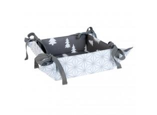 Košík na pečivo Let´s Stay Home - 35*35 cm