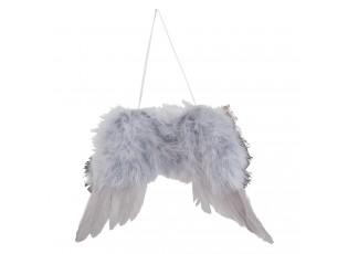 Andělská křídla z peříček - 23*1*17 cm