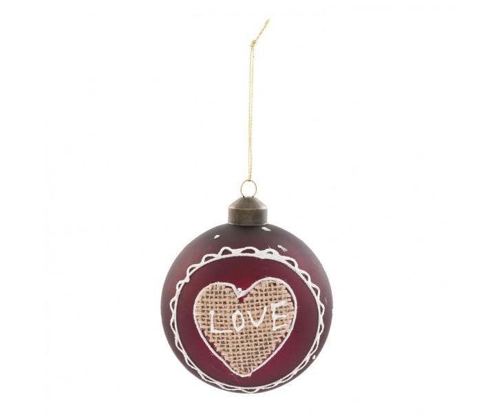 Vánoční ozdoba Love - Ø 8 cm - sada 4ks