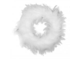Věnec z bílýh peříček - Ø 43 cm