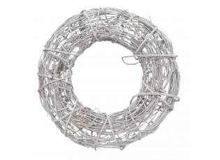 Ratanový věnec šedý s patinou - Ø 55*12 cm