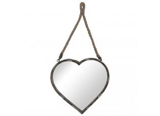 Závěsné zrcadlo srdce - 33*32 cm