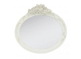 Oválné zrcadlo s růžemi - 30*29 cm