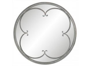Kulaté zrcadlo s patinou - Ø 58*3 cm