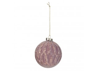 Purpurová vánoční ozdoba s patinou - Ø 8 cm