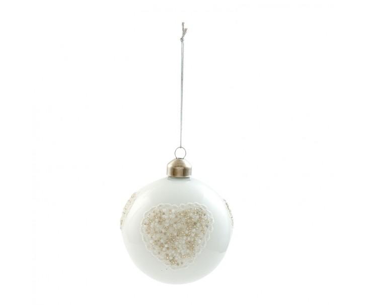 Vánoční ozdoba  - Ø 8 cm- sada 4ks