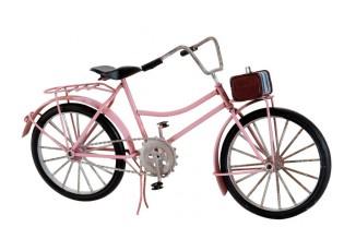 Kovový model růžového kola - 31*11*17 cm