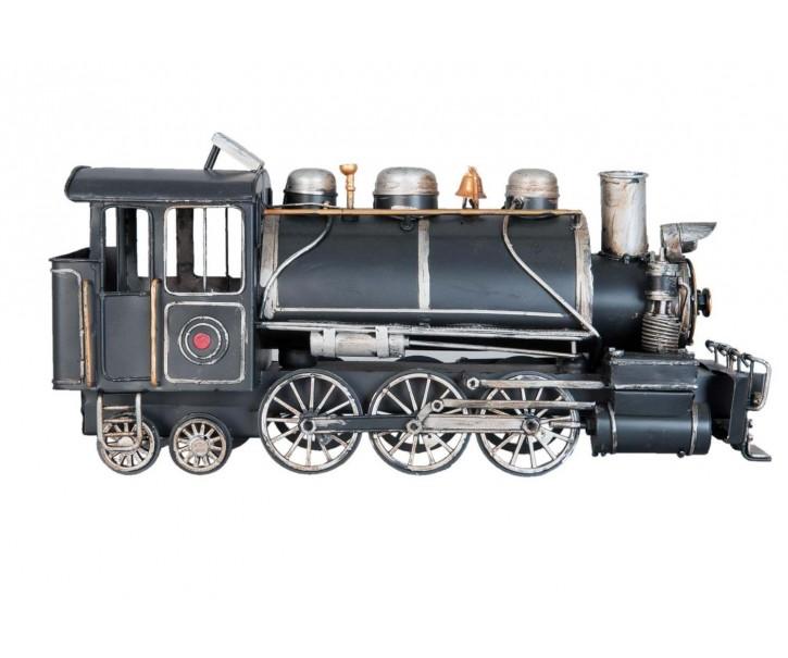 Kovový retro model lokomotivy - 34*12*17 cm