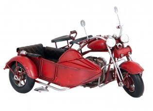 Kovový model motocyklu se sajtnou - 18*14*11 cm