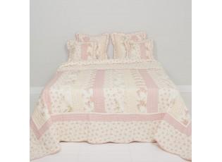 Patchwork přehoz na dvoulůžkové postele Heart Roses - 260 * 260 cm