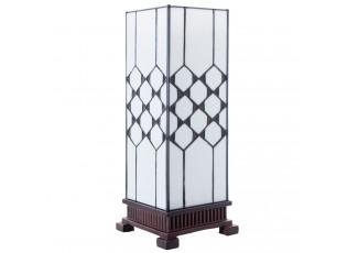 Stolní lampa Tiffany Roof - 17*17*44 cm E27/Max.1x40Watt