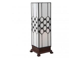 Stolní lampa Tiffany Roof - 12*12*36 cm E14 / max. 25 Watt
