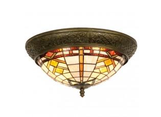 Stropní světlo Tiffany - Ø 38*19 cm 2x E14 / Max 40W