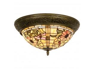 Stropní světlo Tiffany Cappa - Ø 38*19 cm 2x E14 / Max 40W
